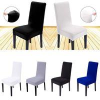 Abnehmbare Spandex Stretch elastische Stuhlhaube Sitzbezüge Esszimmer Hochzeit Bankett Dekor Waschbarer Slipcover Neu