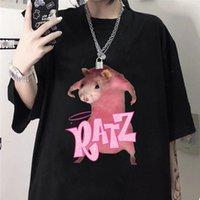 Harajuku Vintage Crop Tops Frauen T-shirt Kurzarm Renner Brief Anime Print Tshirts Kawaii Tee
