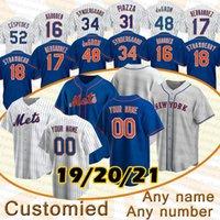 12 Francisco Lindor New Baseball Jerseys York Mets 48 Jacob Degrad 20 Pete Alonso 18 Darryl Strawberry Mike Piazza Noah Syndergaard Jerseys