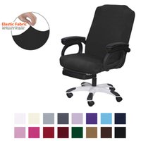 Stretch Computer Office Chair Cover with Durable Zipper Universal Washable Removable Spandex Rotating Boss Seat Slipcovers Protector for Dogs, Cats, Pets