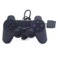 Nero doppia vibrazione Wired Wired Joystick Gamepad Controller per il controller di gioco PS2