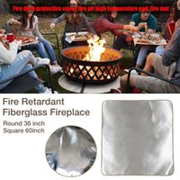 Carpets 36 60 Inch Fire Pit Mat Fireproof Patio Grill Pad Deck Protective Rug For Outdoor BBQ