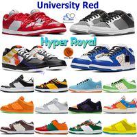 أحذية كرة السلة منخفضة الجامعة الأحمر الرجال المدربين الرياضة الصنوبر الأخضر الأصفر الدب الليزر البرتقالي البحر cilver hyper الملكي التعادل صبغ أسود أبيض أحذية