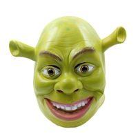 Party Masks Green Shrek Latex Movie Cosplay Adult Animal Mask Realistic Masquerade Prop Fancy Dress Halloween