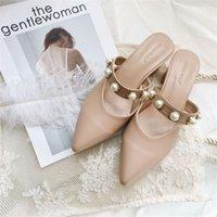 Женские летние модные сандалии HAN Faner на высоком каблуке наружный износ модный и тонкий Baotou толстые каблуки дикие заостренные тапочки
