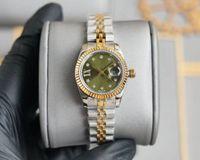 아름다운 고품질 28mm 패션 로즈 골드 숙녀 드레스 시계 기계 자동 자동 여성 시계 스테인레스 스틸 스트랩 팔찌 손목 시계 캐주얼 가방