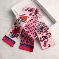 MVHKFJFH Mix Design Design Magic Borsa a mano Sciarpe Donne Piccola sciarpa di seta Kerchief Beltch Securitrici da stampa per lampada da stampa Borsa da stampa in nastro Donne femminili Sciarpe Sciarpe