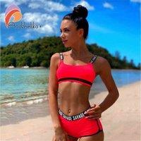 ANDZHELIKA LLEGADA LECTURA DE MUJERES SPORT SWIMEST SOUTE CUP BIKINIS Set Summer Sexy Bikini Bikini Blanco Traje de baño Blanco
