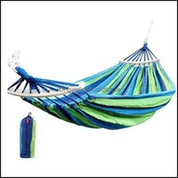 And Cam Hiking Sports & Outdoorsportable Hammock Anti-Rollover Single Double Outdoor Swing Canvas With Wooden Sticks Thick Safe Slee Bags Dr