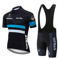 Yarış Setleri 2021 Kırmızı Strava Pro Bisiklet Takımı Kısa Kollu Erkek Bisiklet Jersey Yaz Nefes Giyim