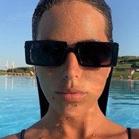 Black Squre Gafas de sol Mujeres Y2K Steampunk Gafas de sol Lujo Vintage Vintage Playa Gafas Gafas de Sol