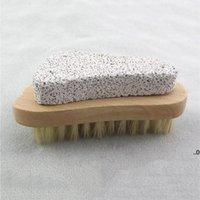 Doğal kıl fırça ayağı peeling ölü cilt sökücü pomza taş ayaklar ahşap temizleme fırçaları ev duş spa masajı FWF8858
