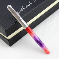 السليلويد الاكريليك نافورة القلم الصلب كاب ماركة 0.38 ملليمتر