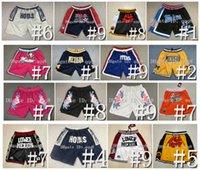 Koszykówka Szorty Zespół USA Kosz Zapinany Zipper Spodnie Kieszonkowe Zipper Mamba Crenshaw Lower Merion All Star North Carolina Tar Heels Unc Michigan Football Pinth Panther