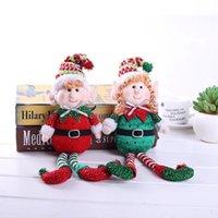 Christmas Decorations Christmas Red Green Plush Leg Elf Dolls Ornaments Boys Girls Elves Toy Doll Xmas Gifts w-01196