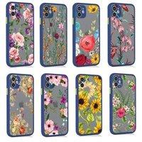 Translucide Floral Antiurto Antiurto Donne Girls Cell PC TPU Custodie telefoniche per iPhone 12 11 Pro Max XR XS 8 7 6 Plus Bella pittura floreale modello modello di cellulare