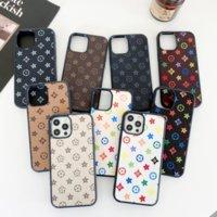 Fashon 장식 전화 케이스 아이폰 13 12 11Pro XS 최대 XR 플러스 가죽 케이스가있는 브랜드 디자이너