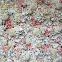 Artificial Silk Rose Wedding Flower Wall And Table Runner For Party Backdrop Arch Row CenterPiece Ring Decoration Decorative Flowers & Wreat