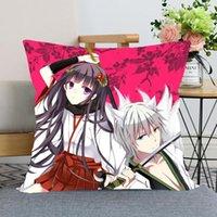 Yastık Kılıfı Anime Inu X Boku SS Ev Dekoratif Yastıklar Için Kapak Kare Fermuarlı Saten Kumaş Yastıkları 40x40,45x45 cm