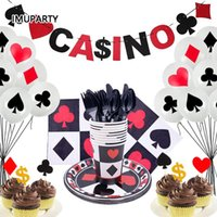 Party Decoration For 8 Person Casino Decorations Playing Card Theme Birthday Supplies Adult Hen Bachelor