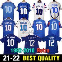 1982 86 França Retro Zidane Henry Soccer Jersey Ribery 1996 1998 Vieira Futebol Camisa MAKELELE 2000 2002 DJorkaEff 2004 2006 Petit 2010 Vintage