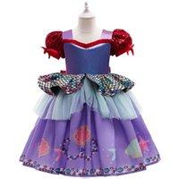 Girls Dresses Baby Clothes Kids Short Sleeve Child Clothing Princess Tutu Skirts Pettiskirt Birthday Party Formal Dress Lace B6132