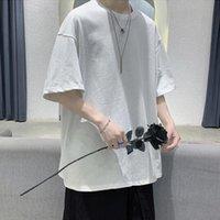 T-shirts Hommes King Milli milliard 100% coton T-shirt d'été en vrac 5 demi-manches occasionnelles Chemise de base à manches courtes O col solide couleur