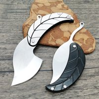 High Quality Leaf Folding Knife 3C13Mov Satin Blade Steel Handle EDC Gift Knives 2 Handles Colors