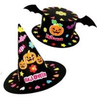 هالوين diy قبعة اليدوية لعب للأطفال الأطفال الكرتون حزب الديكور القبعات ورقة كاب التاج الحرف لعبة العرض عيد الميلاد owb9735