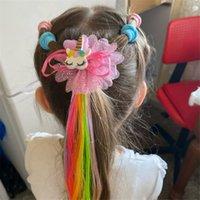 Girls Star Hairpin Child Twist Twist Capelli Clip Semplice Barrette Unicorno Fumetto Capelli Corda Accessori per bambini Parrucca Corda Capelli Pin Pin