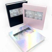 10 coppie ciglia dell'organizzatore del libro di imballaggio di imballaggio dei casi di marmo per le ciglia finte del visone con le ciglia del vassoio strumenti di trucco della scatola dei calibro Venditori all'ingrosso