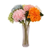 Artificial Hydrangea Flower 47cm Fake Silk Single Real Touch Hydrangeas for Wedding Centerpieces Home Party Decorative Flowers DH9679