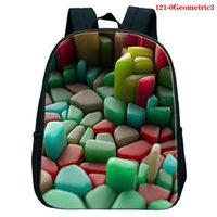 حقيبة الظهر نيون هندسية طباعة فتاة الأطفال حقيبة مدرسية الكرتون بنين بنات daypack مضحك kawaii أطفال رياض الأطفال حقيبة