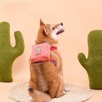 Dog Collars & Leashes Vest Harness Backpack Snack Pack Cartoons Printer Outdoor Coin Purse Pet Poop Bag Dispenser Waste Distributor Supplies