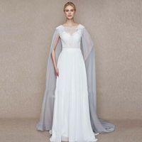 Wraps & Jackets Wedding Boleros Light Gray Cape Embroidered Bridal Cloak Jacket Long Tailing For Elegant Accessories