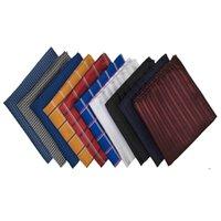 Mendeng Mens 10 Pack Assortiment Coton Polka pois Poche carrée carré mouchoir Hanky Ensemble pour hommes et femmes Business mariage formelle FWD9472