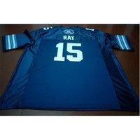 Kundenspezifische Bucht Jugendfrauen Vintage Toronto Argonauts Ricky Ray # 15 Fußball-Jersey Größe S-5XL oder benutzerdefinierte Jedes Name oder Nummer Jersey