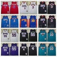 ميتشل و نيس كرة السلة ألين إيفرسون جيرسي 3 جايسون ويليامز 55 كريس ويب 4 مايكل مايك بيبي 10 ستيفن كاري 30 خمر عالية