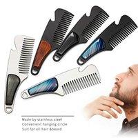 Hair Brushes 1pc Portable Male Beard Comb Stainless Steel Men's Shaving Anti-static Pocket Mustache Brush