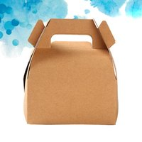 Gift Wrap 24pcs Portable Cake Boxes Baking Biscuits Packing Kraft Paper Cupcake Container DIY Box Case Party Supplies