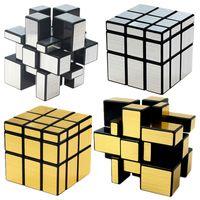 3x3x3 Magic Mirror Cubes Rompecabezas recubiertas de fundición Cubo de velocidad profesional Juguetes para niños