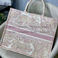 Luxurys 디자이너 대형 토트 백 자수 3D 3 차원 타이거 패턴 용량 럭셔리 큰 브랜드 쇼핑백 핸드백 수제 양면 꽃
