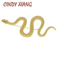 Pins, Brooches CINDY XIANG Unique Design Gold Silver Color Snake Women Men Lady Metal Animal Brooch Pins Party Jewelry Gifts