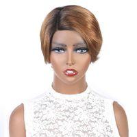 Ishow Short Wigs Brazilian Virgin Hair 1B 30 Ombre Color Human Hair Wigs Colored Bob
