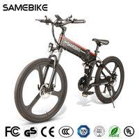 [AB Stok] SAMEBIKE LO26 26 inç Katlanır Akıllı Moped Elektrikli Bisiklet Güç Asisti Elektrikli 48 V 350 W Motor 10Ah E-Bike Açık Seyahat için