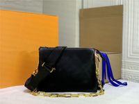 أزياء المرأة حقائب الكتف ثلاثة طبقات crossbody حقيبة جلد وسادة سلسلة حقيبة pochette messenger كوسين صغير الحجم عصا فاصل مخلب محفظة محفظة محفظة