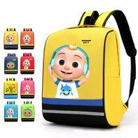 CoComelon Jj Boy's Cartoon Printed Large Size Children's Schoolbag Backpack Cute Kids Boy Girls Kindergarten Shoulders Bags gG506WC0