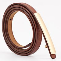 Belts 2021 Fashion Designer Thin Genuine Leather Belt For Women White Black Red Waistband Strap Gold Metal Buckle Jeans
