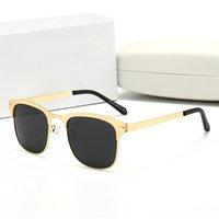 جودة عالية الفاخرة جولة نظارات شمسية معدنية الاستقطاب رجل مصمم نظارات الشمس مولات دي سولاي صب أوم مع صندوق