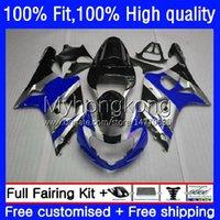 Molde de injeção Bodywork para Suzuki GSXR 1000CC 1000 CC K2 00 01 02 Corpo 24NO.104 GSXR1000 GSX-R1000 2000 2001 2002 GSXR-1000 2000-2002 Azul Prata 100% Fit OEM Feeding